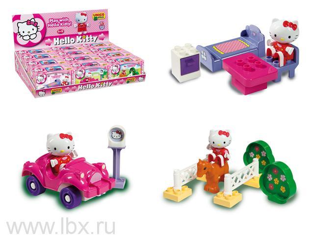 Конструктор Hello Kitty (Хеллоу Китти) в коробке 12 штук.