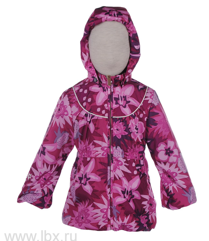 Куртка для девочки JADRIEN фуксия с цветами, Huppa (Хуппа)