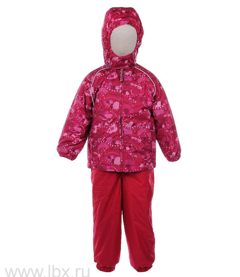 Комплект для девочки TUULI красный с принтом, Huppa (Хуппа)