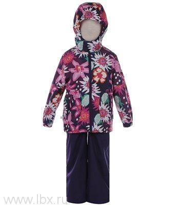 Комплект для девочки KAREN фиолетовый с цветами, Huppa (Хуппа)