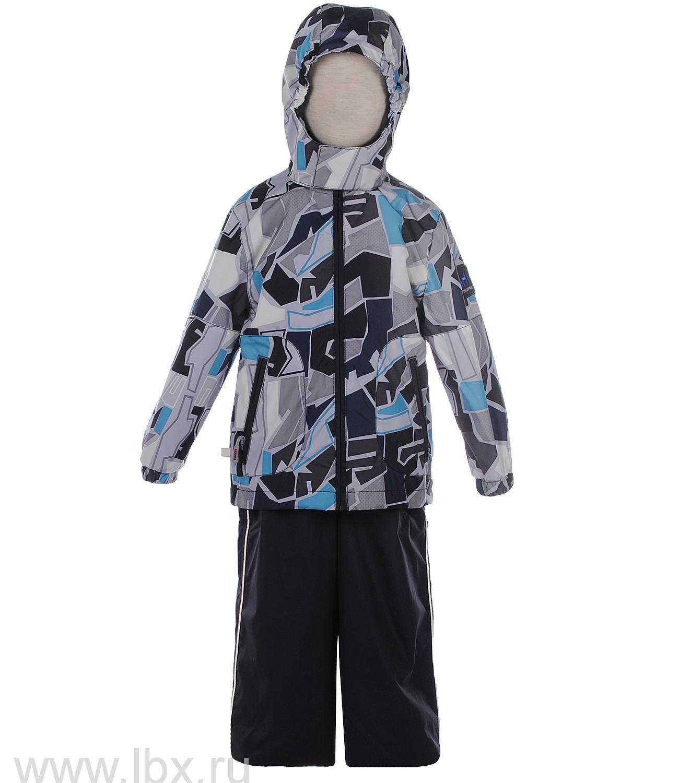Комплект ( куртка  полукомбинезон) FREDERIC серый принт/темно-синий, Huppa (Хуппа)