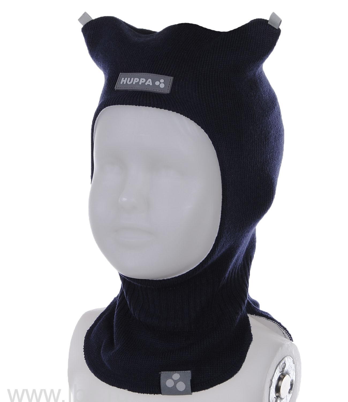 Вязанная шапка-шлем для мальчика SIDNEY синяя, Huppa (Хуппа)