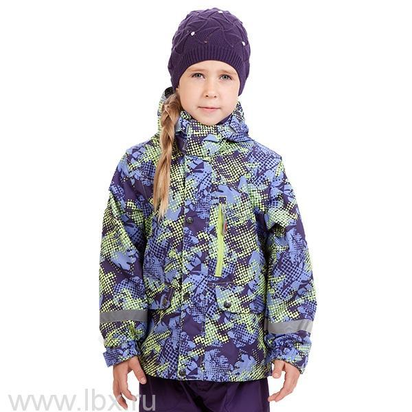 Куртка для девочки 5 в 1 JAZZ с принтом розовая/фуксия, Huppa (Хуппа)