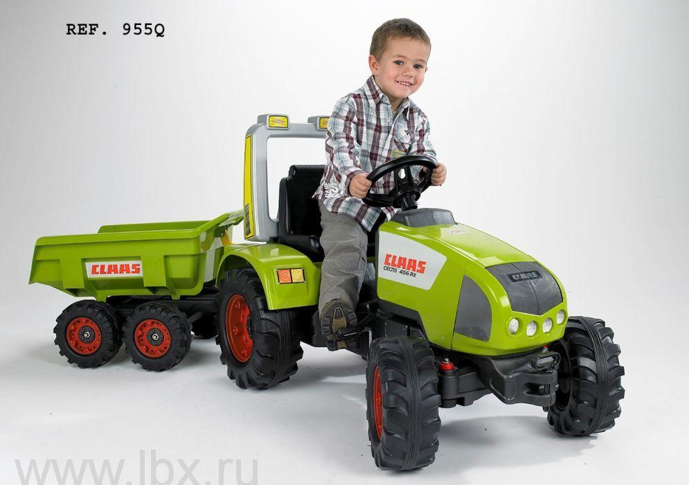Трактор педальный с прицепом зеленый 196 см, Falk (Фолк)