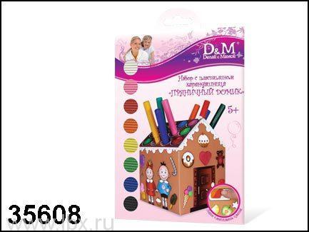 Пластилин для детской лепки Пряничный домик Docha&Mama (Доча&Мама)