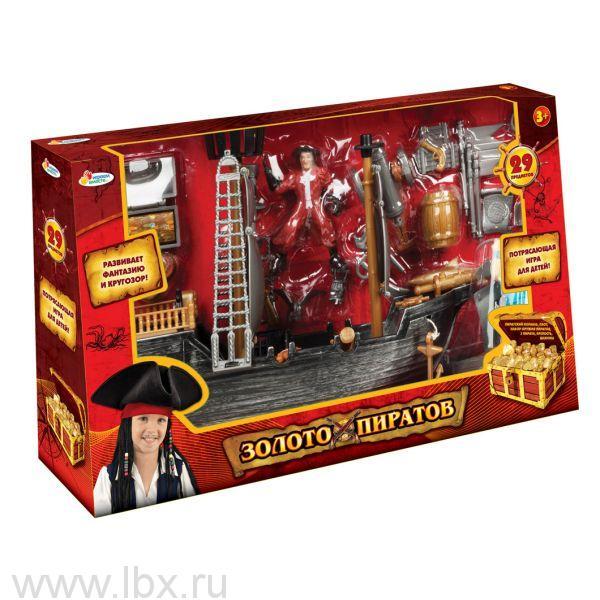 Пиратский корабль `Играем Вместе` `Золото пиратов` с аксессуарами