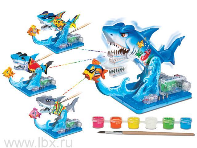 Научный опыт 37211 `Акула` с красками, на батарейках Amazing Toys (Эмейзин Тойс)