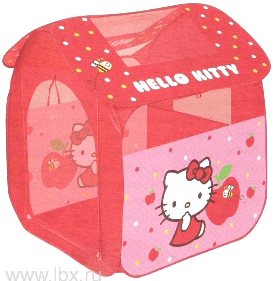 Детская игровая палатка, Играем вместе, Hello kitty в сумке