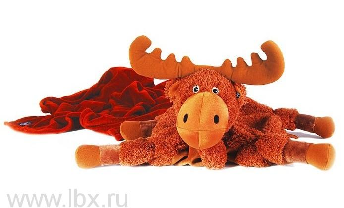 Мягкая игрушка-плед-подушка Zoobies (Зубис) Лось Мадди