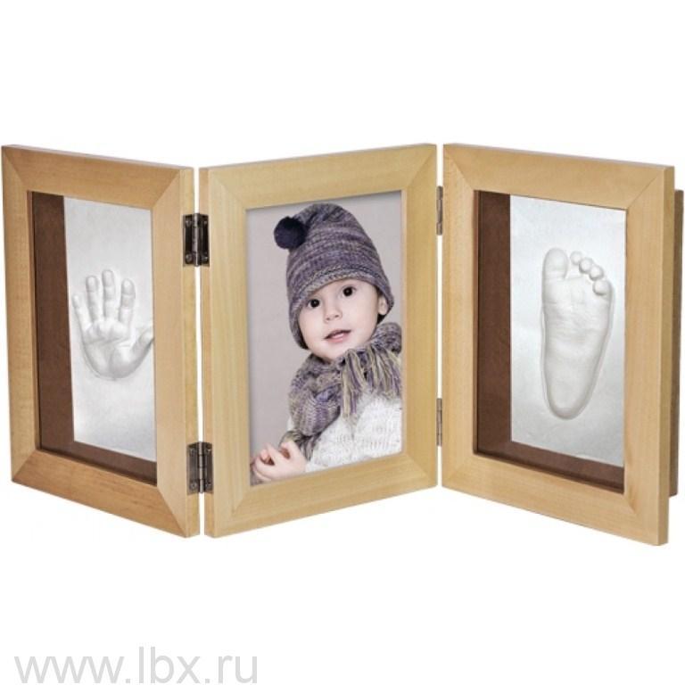 Рамочка «3D» тройная складная (липа) Ручки&Ножки (Ruchki&Nozhki)