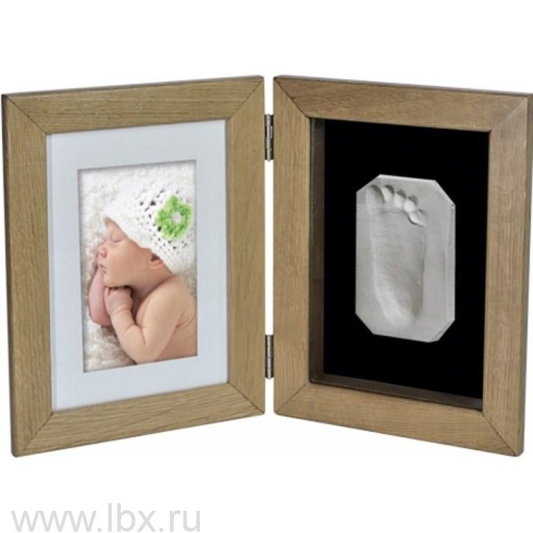 Рамочка «Лайт» двойная настольная со стеклом (дуб) Ручки&Ножки (Ruchki&Nozhki)- увеличить фото