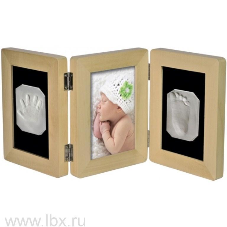 Рамочка «Лайт» тройная складная настольная (Липа) Ручки&Ножки (Ruchki&Nozhki) RM4N- увеличить фото