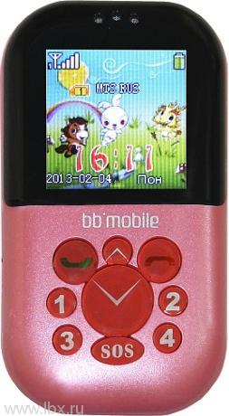 Детский мобильный телефон Жучок, BB-mobile (ББ-мобайл), розовый