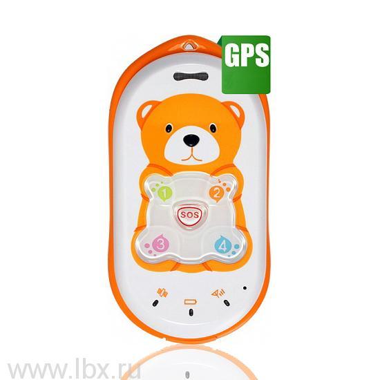 Детский мобильный телефон GPS Baby Bear, BB-mobile (ББ-мобайл), оранжевый