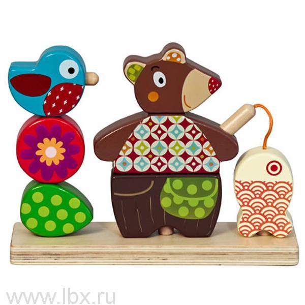 Логическая игрушка  `Мишка на рыбалке`, Ebulobo (Эбулобо)