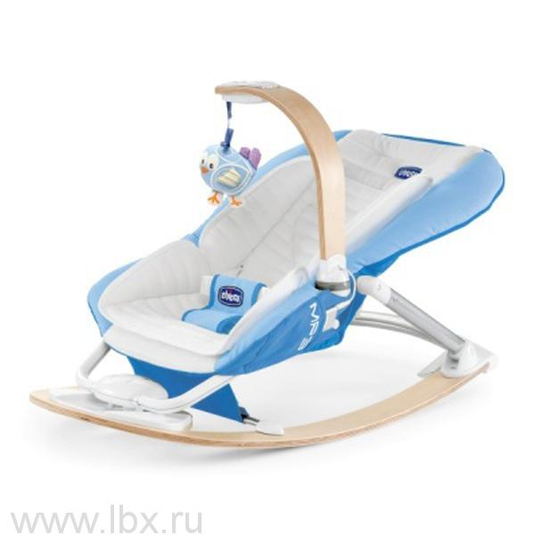 Креслице-качалка Chicco I-Feel, Chicco (Чикко), Light Blue