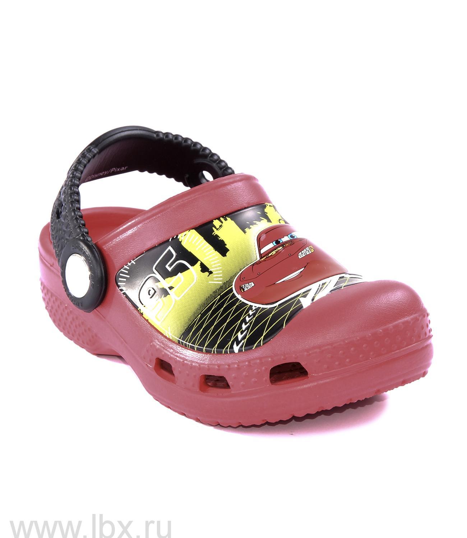 Сабо (Lightning McQueen Clog Red) Лайтнинг МакКвин Клог Рэд, Crocs (Крокс)- увеличить фото