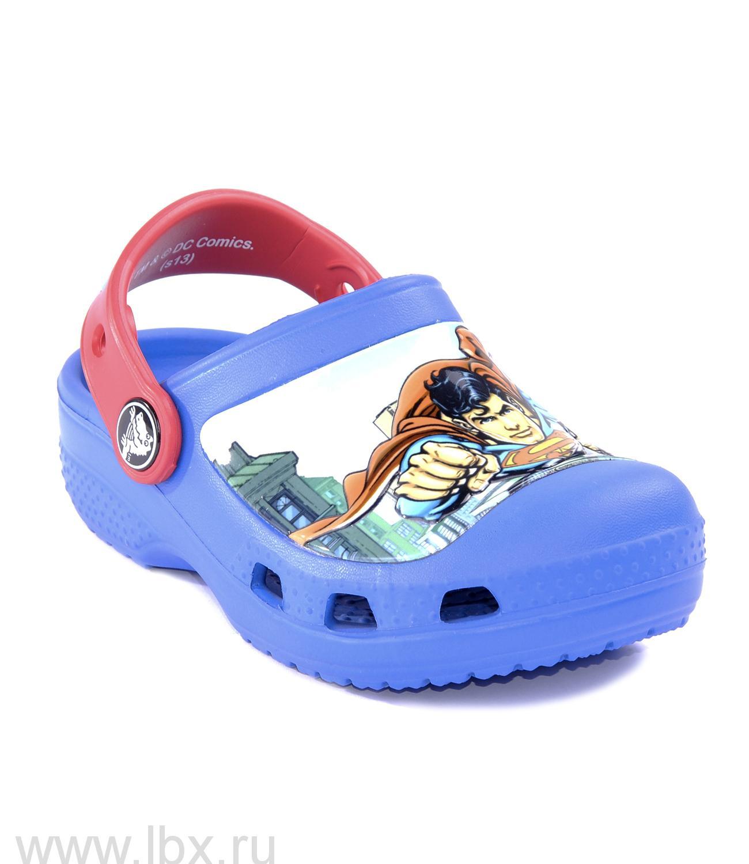 Сабо (Superman Clog Boys Sea Blue/Red) Супермэн Клог Си Блю/Рэд, Crocs (Крокс)- увеличить фото