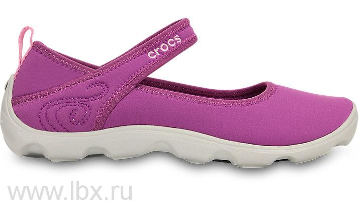 Туфли (Duet Busy Day Mary Jane) Дуэт Бизи Дэй Мэри Джейн Карнейшн/Фуксия, Crocs (Крокс)
