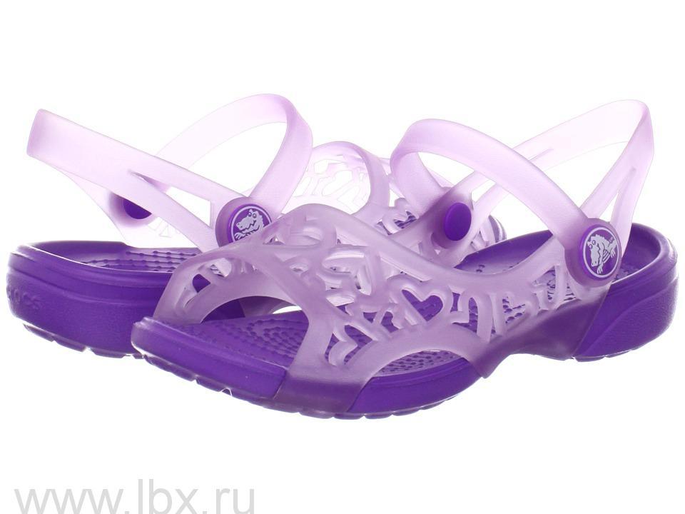 Сандалии (Adrina Hearts Sandal Iris/Neon Purple) Адрина Хартс Айрис/Неон Перпл, Crocs (Крокс)
