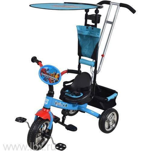 Велосипед трехколесный с ручкой, Bonna Transformers (Бонна) синий