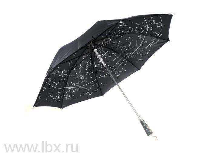 Зонт черный Levenhuk Star Sky U10 (Левенгук Звездное Небо)