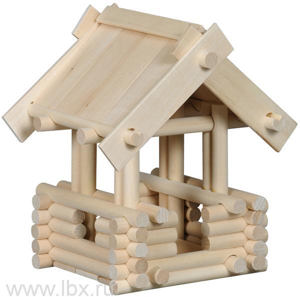 Беседка, деревянный конструктор Русигрушка