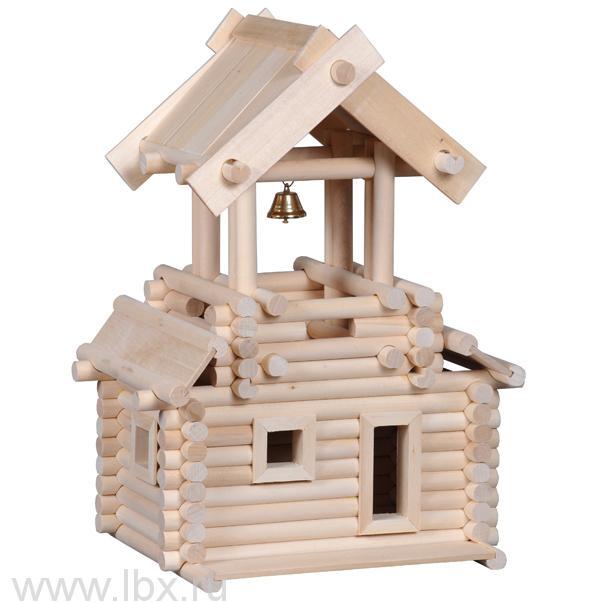 Колокольня, деревянный конструктор Русигрушка