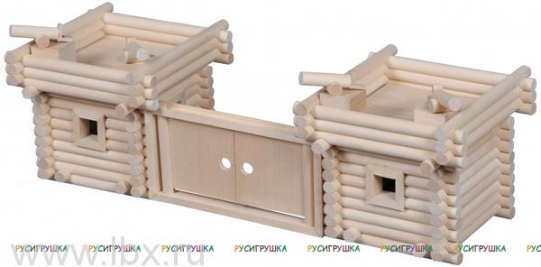 Крепость деревянный конструктор Русигрушка