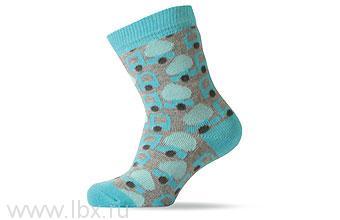 Носки Melton (Мэлтон) с рисунком голубые- увеличить фото