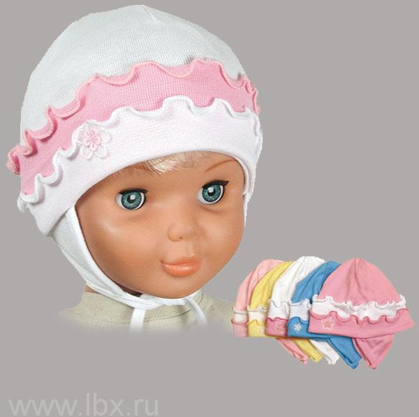 Шапочка-чепчик для малышки, AlbiNat - Konvar. Цвет: желтый.