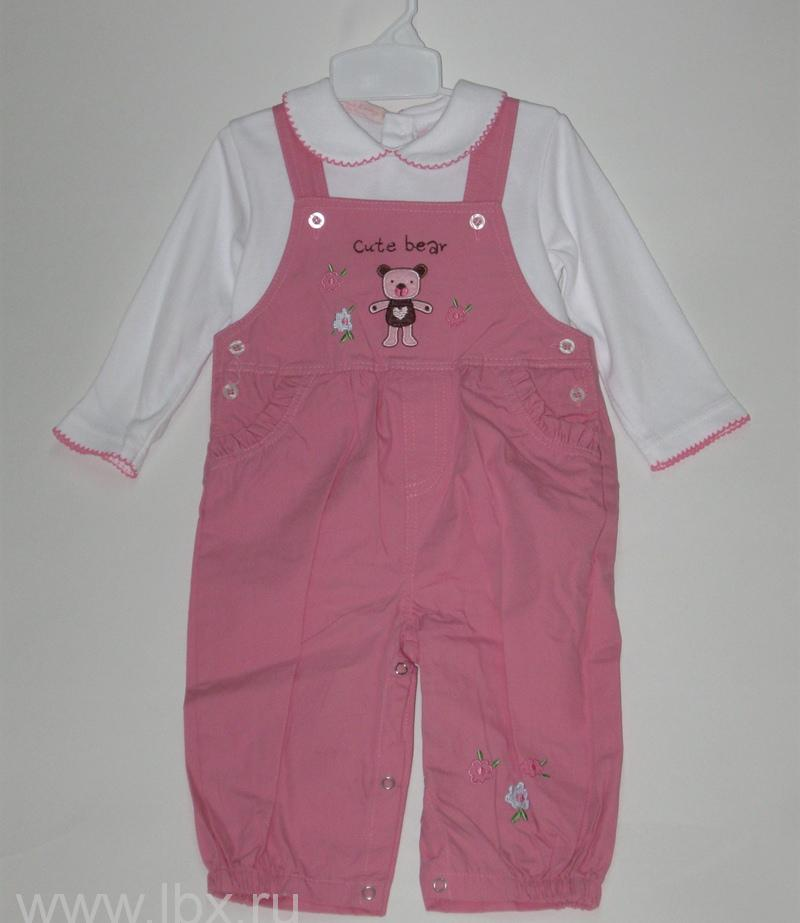 Комплект из полукомбинезона и блузки для девочки, Oldos (Олдос)