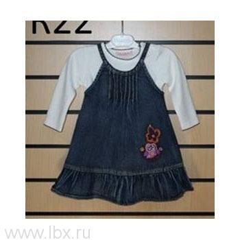 Комплект из сарафана и блузки для девочки, Oldos (Олдос)- увеличить фото