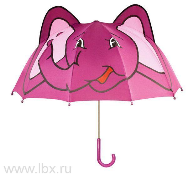 Зонт-трость детский Слоненок, Kidorable (Кидорабл)- увеличить фото