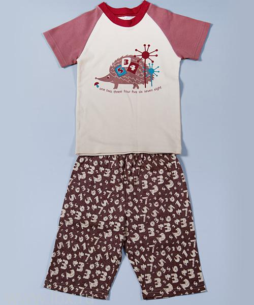 Пижама для мальчика из коллекции Ежик и цифрами, Модамини
