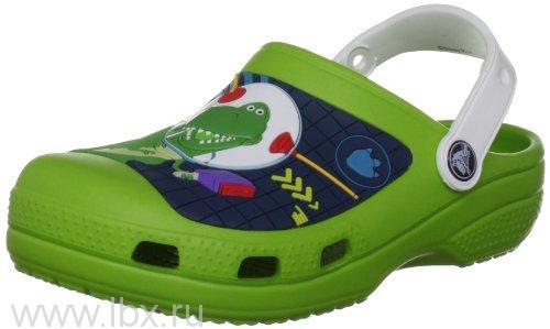 Сабо Creative Buzz Lightyear&Rex Clog Green/White (Базз Лайтеа&Рекс Клог Вайолет Грин/Вайт), Crocs (Крокс)