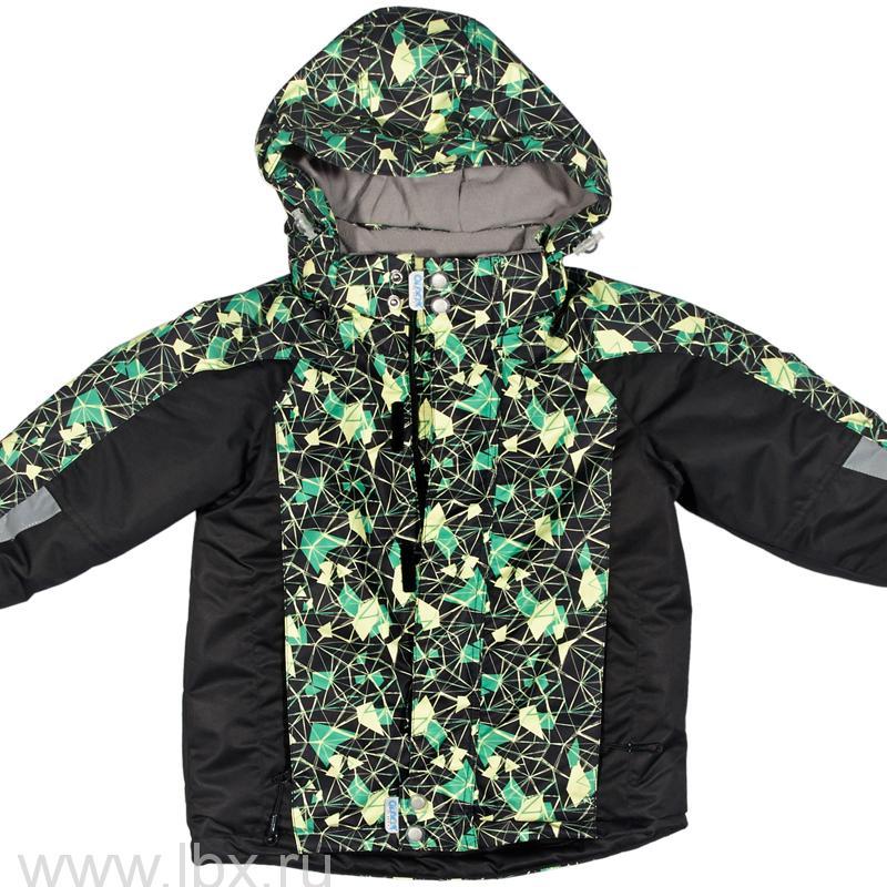 Куртка `Кения`, цвет черный-зеленый, Oldos (Олдос)