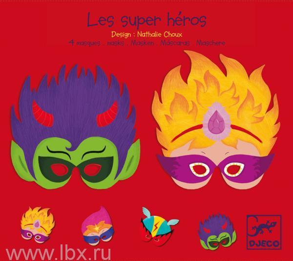Набор карнавальных масок `Супер герои`, Djeco (Джеко)