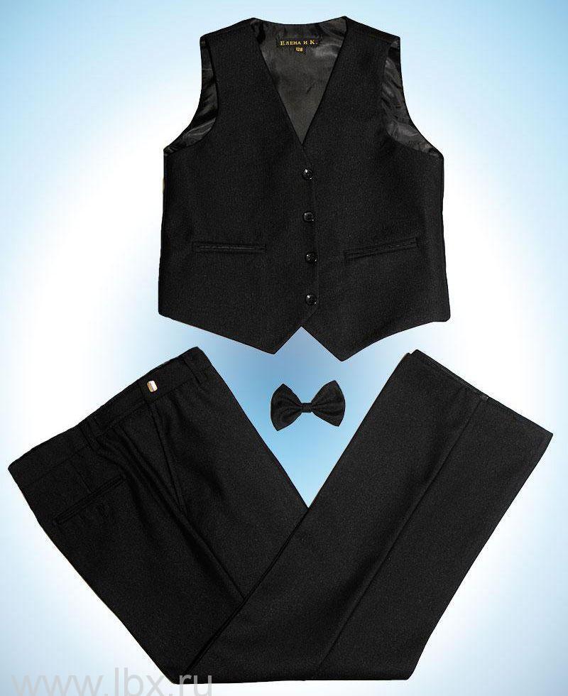 Комплект-двойка для мальчика черный в рубчик, Елена и Ко