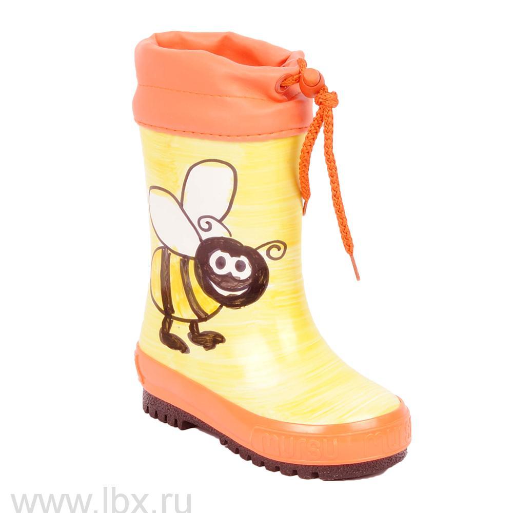 Сапожки резиновые `Пчела`, Mursu (Мурсу)- увеличить фото