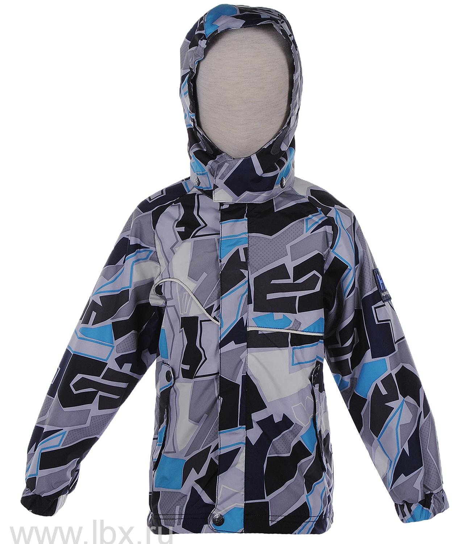 Куртка для мальчика CAIT серый принт, Huppa (Хуппа)- увеличить фото