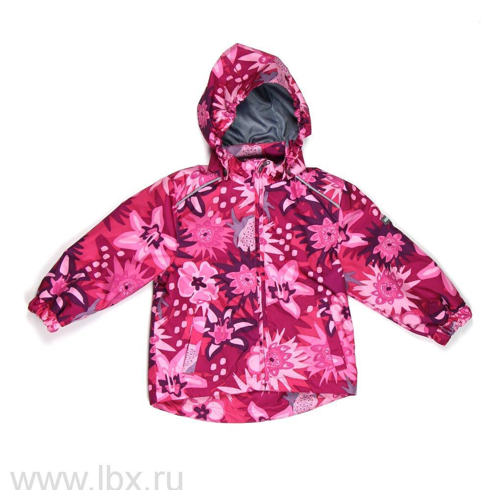 Куртка для девочки JODY фуксия с цветами, Huppa (Хуппа)- увеличить фото