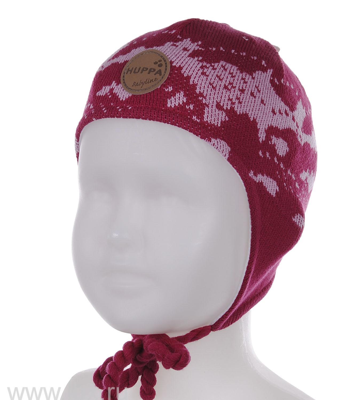 Вязанная шапка для девочки SILBY фуксия, Huppa (Хуппа)