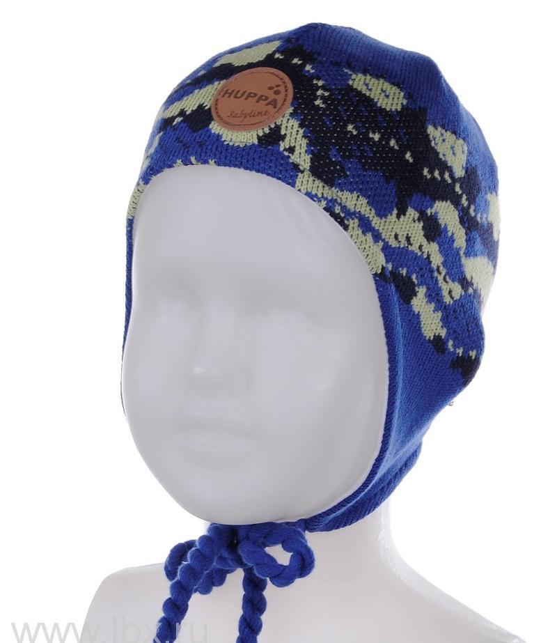 Вязанная шапка для мальчика SILBY синяя, Huppa (Хуппа)