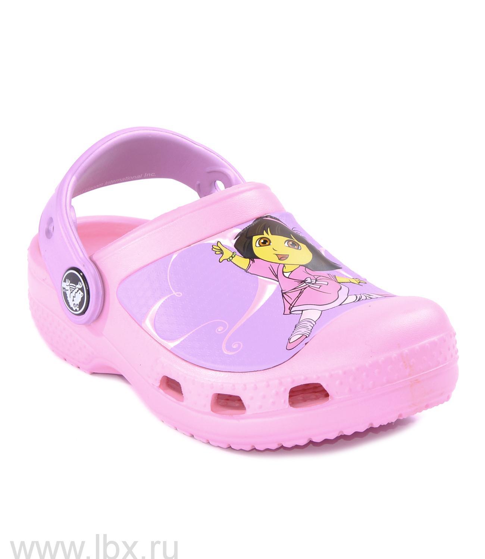 Сабо (Dora Ballet Clog Carnation) Дора Балет Клог Карнейшен, Crocs (Крокс)