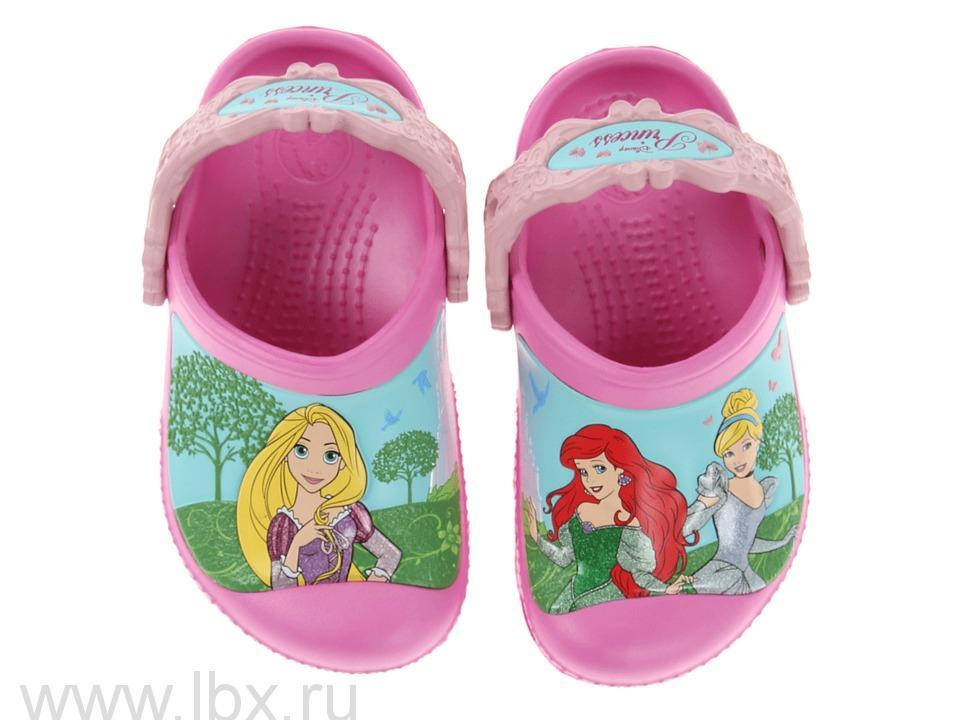 Сабо (Kids Magical Day Princess Clog Party Pink/Petal Pink) Мэджикал Дэй Принцесс Клог Пати Пинк/Петал Пинк, Crocs (Крокс)