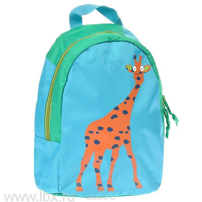 Рюкзак жираф голубой Lassig (Лессиг)