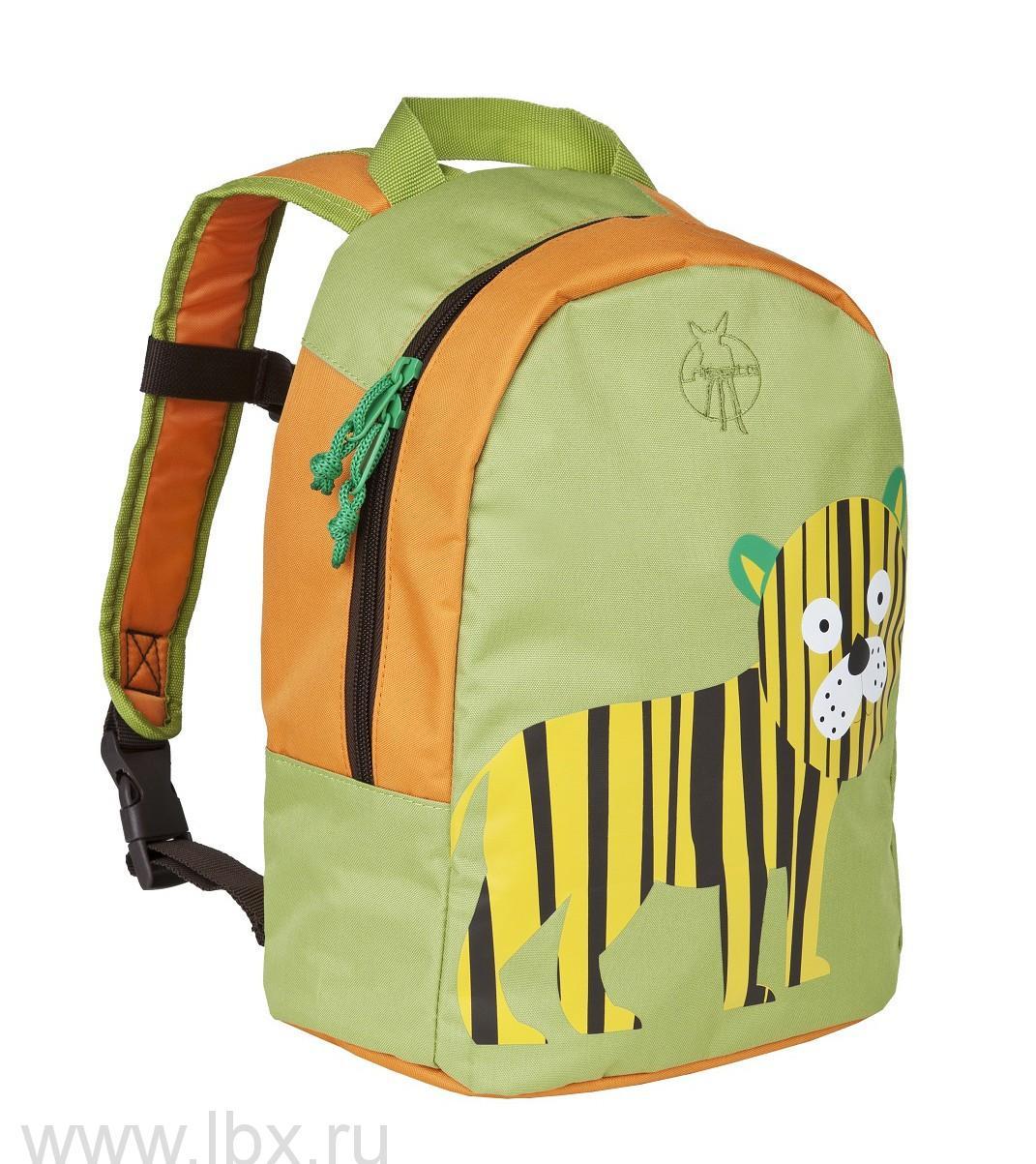 Рюкзак тигренок салатовый Lassig (Лессиг)- увеличить фото
