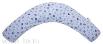 Подушка 170 см., `Цветочки` голубая TheraLine (Тералайн)