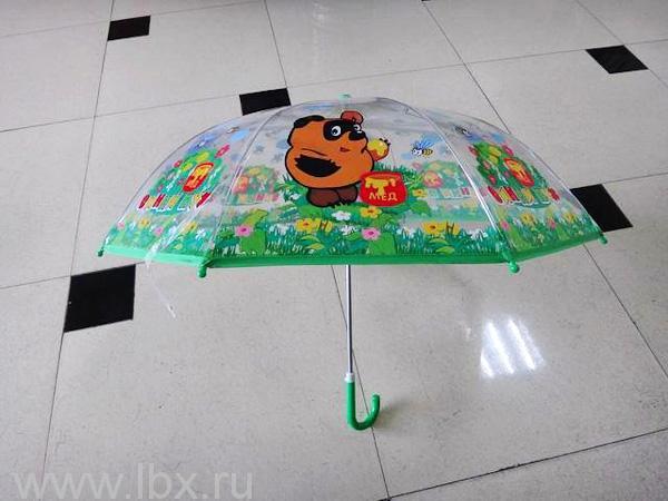 Зонт детский прозрачный Винни-Пух, Играем вместе